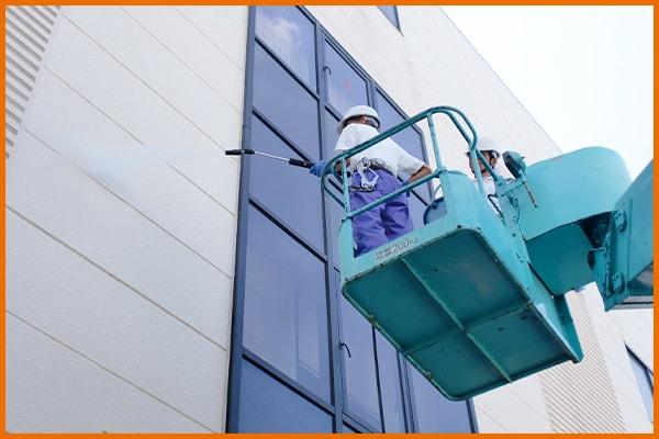外壁、外看板の清掃 五代産業株式会社 兵庫県尼崎市