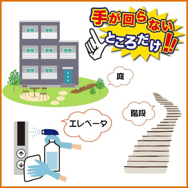 手が回らない部分に限定した清掃プラン 五代産業株式会社 兵庫県尼崎市