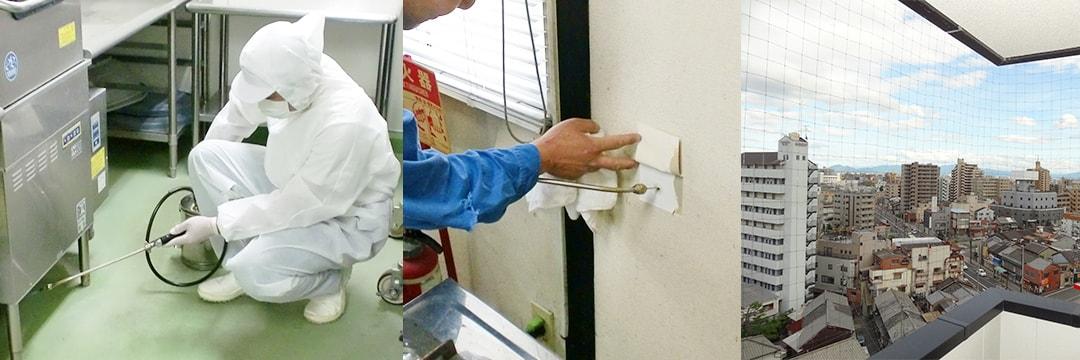 害虫防除処理|五代産業株式会社|兵庫県尼崎市