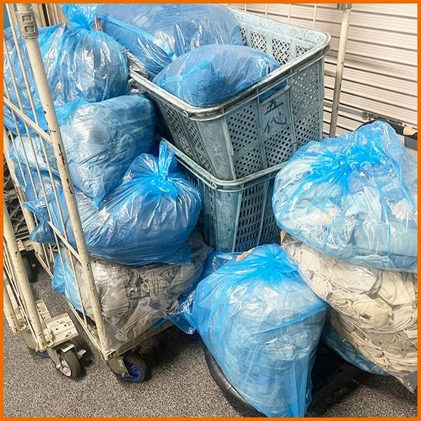 ウエスや軍手の洗濯/再利用 五代産業株式会社 兵庫県尼崎市